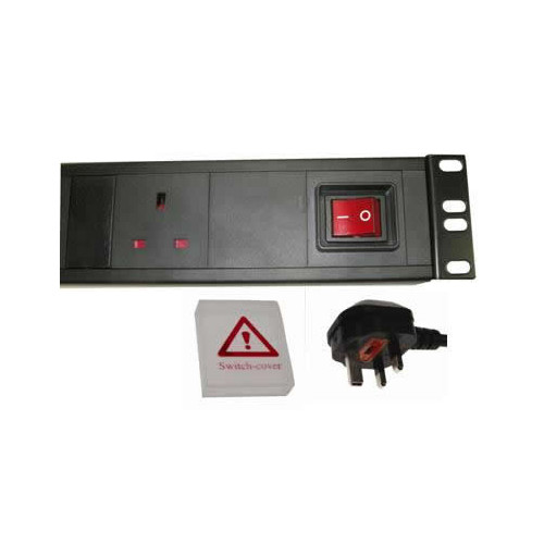 CMW Ltd  | 6 Way Horizontal UK PDU 1.5U  3m Switched Surge - Filtered- Black