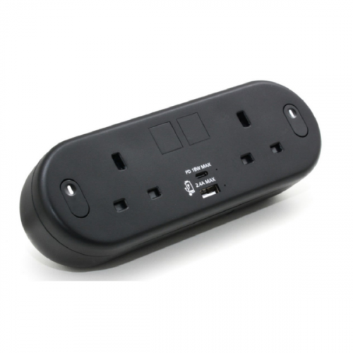 Black Capsule with 2 Power plus USB Type A & C