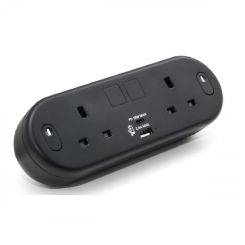CMW Ltd  | Black Capsule with 2 Power plus USB Type A & C