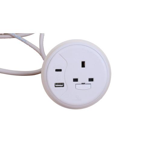 CMW Ltd  | White Porthole 1 x Power, 1 x Duel USB Type A & C