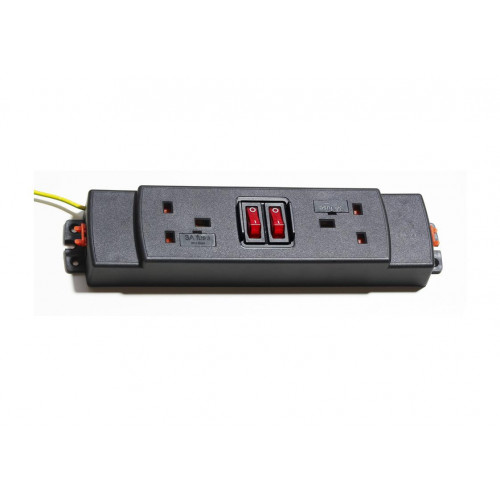 CMW Ltd  | 2 way modular power unit, two switches
