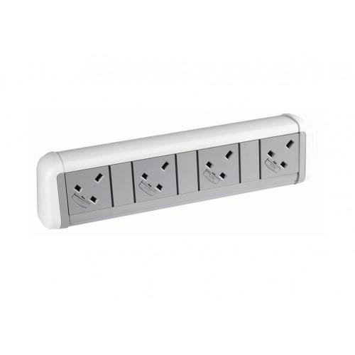 CMW Ltd    4 Power White / Grey Desktop Unit
