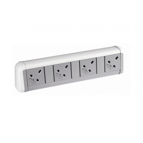 CMW Ltd  | 4 Power White / Grey Desktop Unit