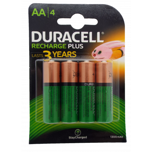 Duracell Recharge Ultra AA Rechargeable Batteries  Pack of 4  (Each)