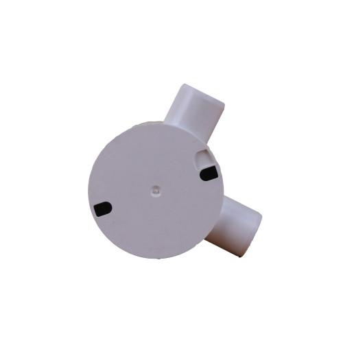 LSF  20mm White PVC Rigid Conduit Angle Box (Each)