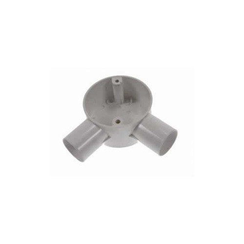 LSF  20mm White PVC Rigid Conduit Angle Box (Each)