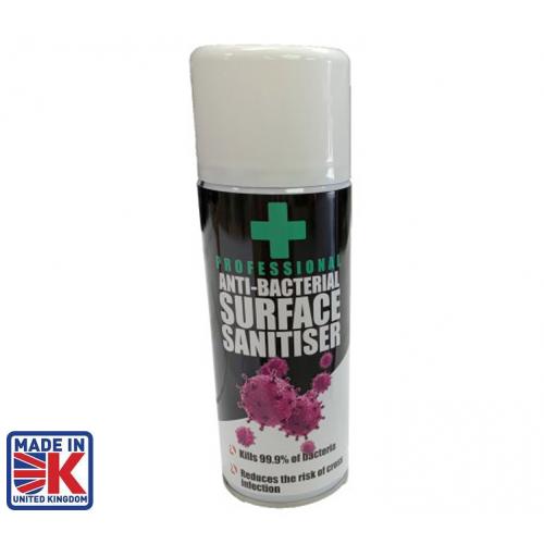 CMW Ltd  | 400ml Anti-Bacterial Surface Sanitiser Tins ( Box of 12 )