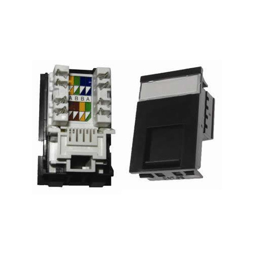 CMW Ltd  | Matrix LJ6C RJ45 Cat5e UTP Single Shuttered Module - Black
