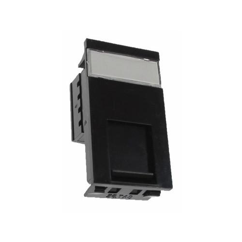 CMW Ltd  | Matrix Euro RJ45 Cat5e UTP Single Shuttered Module-black