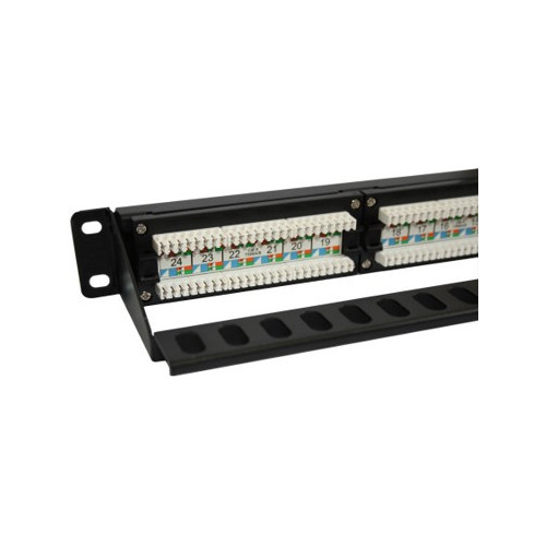 CMW Ltd  | 24 Port  Cat6 RJ45 U/UTP 110 / LSA Universal Patch Panel 1U Black-Matrix