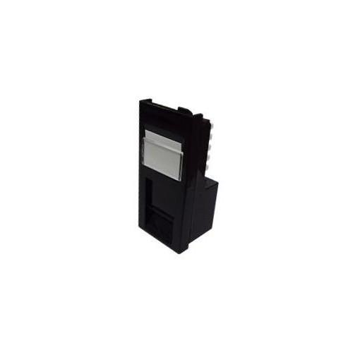 CMW Ltd  | EURO Cat6 Low Profile 50x25 RJ45 U/UTP LSA Single Shuttered Module Black-Matrix