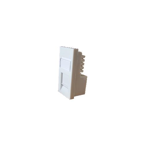 LOGIK Cat6 50x25 RJ45 U/UTP LSA Single Shuttered Module White-Matrix (Each)