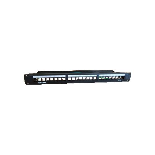 CMW Ltd, Structured Cabling Copper Patch Panel | Matrix 24 Port Unloaded Keystone Patch Panel