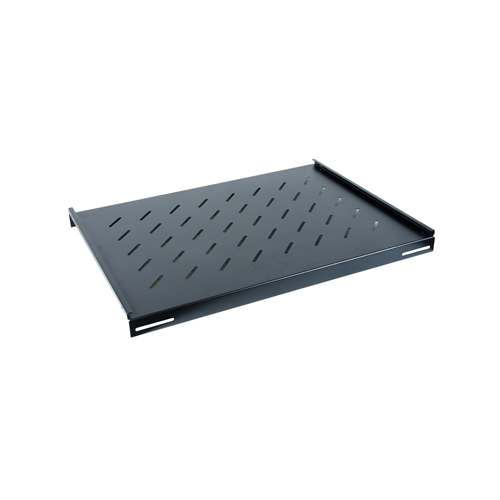 550mm Deep 19inch Fixed Vented Shelf Black-Matrix (Each)