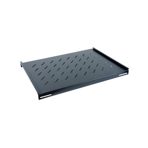 550mm Deep 19inch Fixed Vented Shelf Black-Matrix (Each)