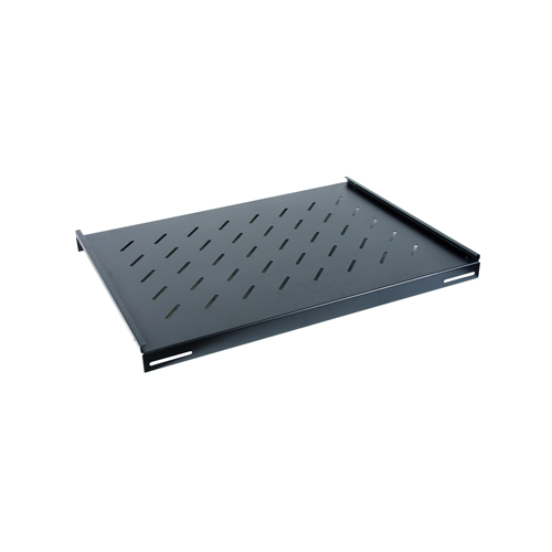 750mm Deep 19inch Fixed Vented Shelf Black-Matrix (Each)