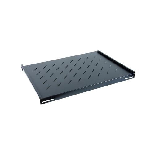 750mm Deep 19inch Fixed Vented Shelf Black-Matrix (Each)