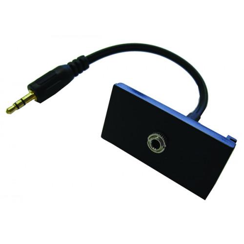 CMW Ltd  | EURO 50x25 Black 3.5mm Female Audio Jack Assembly 150mm - Matrix