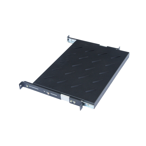 CMW Ltd  | 650mm Deep 19inch Sliding Telescopic Shelf Black-Matrix
