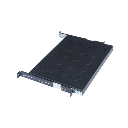 CMW Ltd    650mm Deep 19inch Sliding Telescopic Shelf Black-Matrix