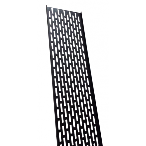 18U Black Cable Tray 75mm Wide (Each)