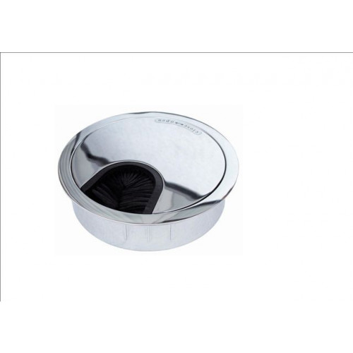 Bright Chrome 80mm Desk Grommet (Each)