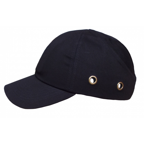 Black Long Peak Bump Cap (Each)