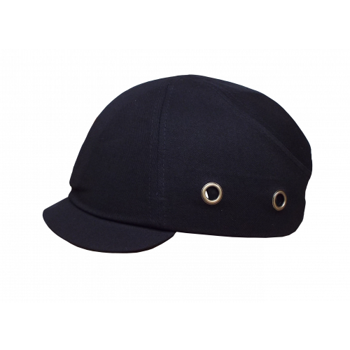 Black Short Peak Bump Cap (Each)