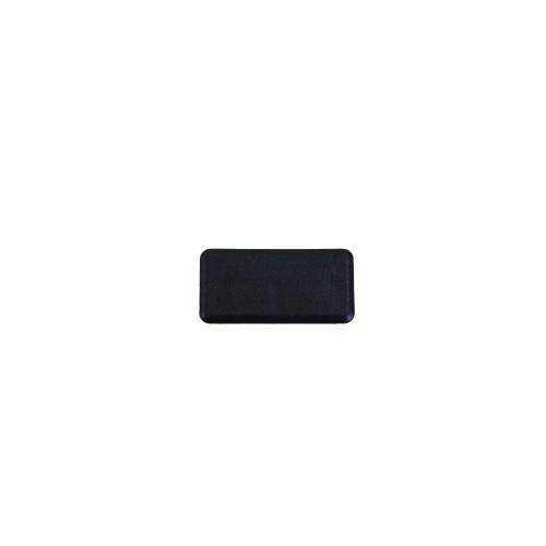 Black Plastic Shallow Support Channel End Cap (Each)