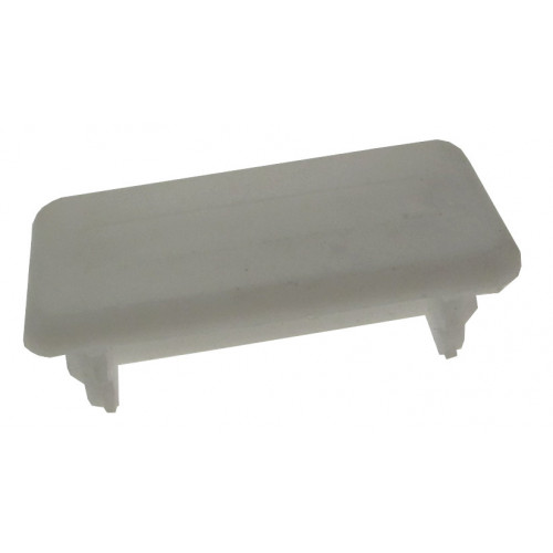 White Shallow Channel End Cap (Each)