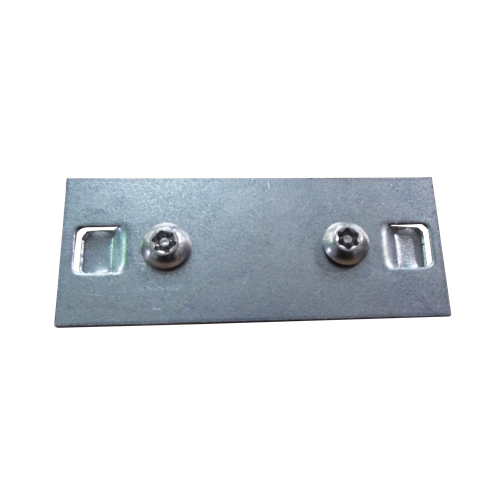 75mm Galvanised Box Trunking Bar Fix with Screws (Each)