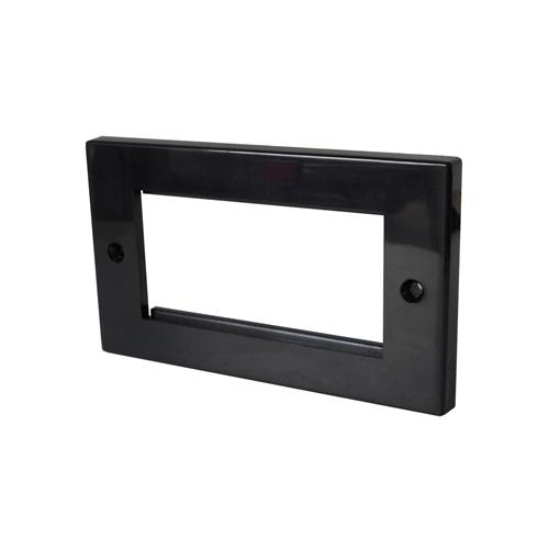 CMW Ltd  | Black Double Gang 100 x 50mm Euro Faceplate