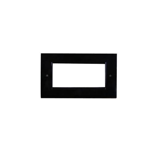 Black Single Gang 50 x 50mm Euro Faceplate (Each)