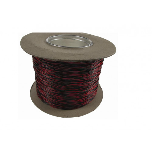 Black /Red 0.5mm CW1109 Jumper Wire 500m Reel (500m)