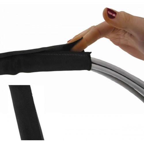 CMW Ltd    Black Retrofit Braided Sleeve 50mm (25m)