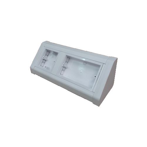 CMW Ltd Dietzel Univolt uPVC | White, PVC 2 + 1 Gang Bench Box, pedestal Box, accept Two Gang UK Socket