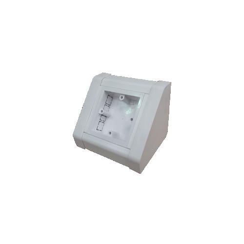 White PVC 1 Gang Bench Box (Each)