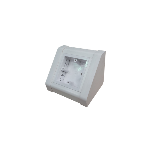 BT-1G Dietzel Univolt uPVC | White, PVC 1 Gang Bench Box, pedestal Box, accept Single Gang UK Socket