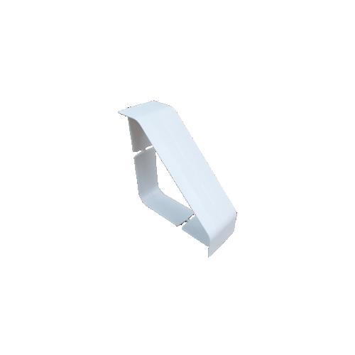 Dietzel Univolt uPVC Angled Bench Trunking | Dietzel Univolt uPVC White, Bench Trunking Coupler  100mm x 100mm,
