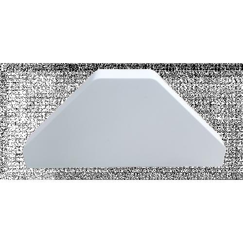 Dietzel Univolt uPVC Angled Bench Trunking | Dietzel Univolt uPVC White, Bench Trunking Double End Cap,  100mm x 100mm,