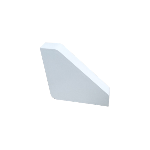 White Bench Trunking End Cap (Each)