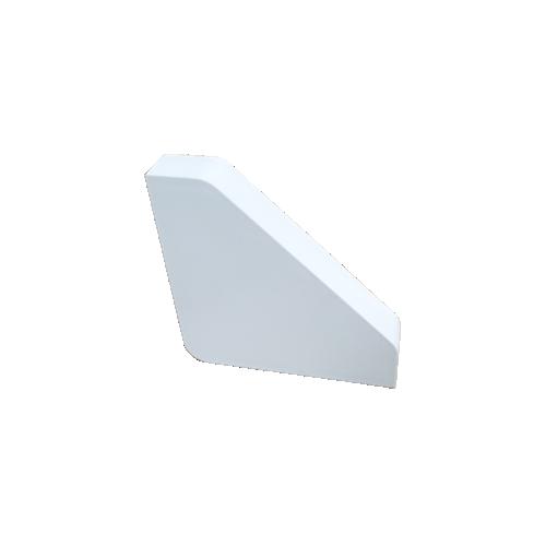 CMW Ltd Dietzel Dietzel Univolt uPVC, BES | White, Bench Trunking End Cap, 100mm x 100mm,