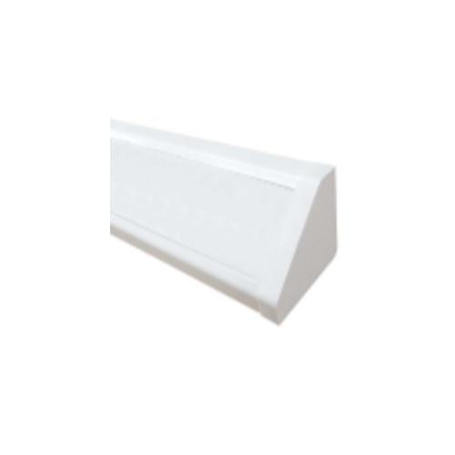 CMW Ltd Angled Bench Trunking | Dietzel Univolt uPVC White, 100mm x 100mm Bench Trunking Body with Lid, 3m length