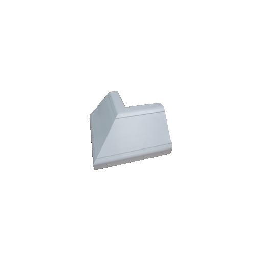 White Bench Trunking External Bend (Each)