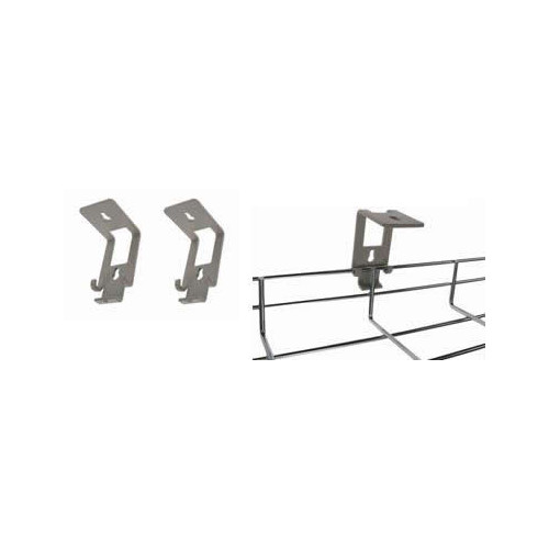 Metal Grey Wire Basket Tray L Brackets (Per / pair)