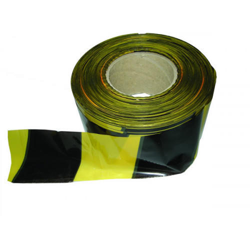 CMW Ltd  | Black - Yellow 70mm Wide x 500mm Long Non - Adhesive Polythene Warning Barrier Tapes