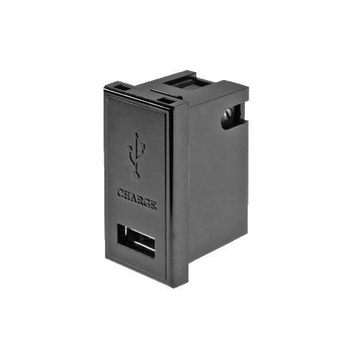 CMW Ltd    1 amp EURO 50 x 25mm Black Single USB Charger Module