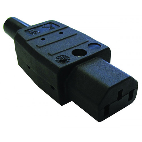 IEC-C13 Black Rewirable Socket Black (Each)
