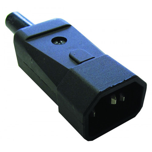 C14 Black IEC Re-Wireable Plug (Each)