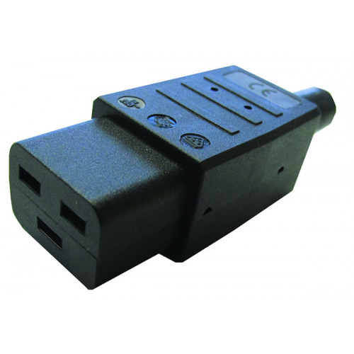 C19 Female Re-Wireable Plug (Each)